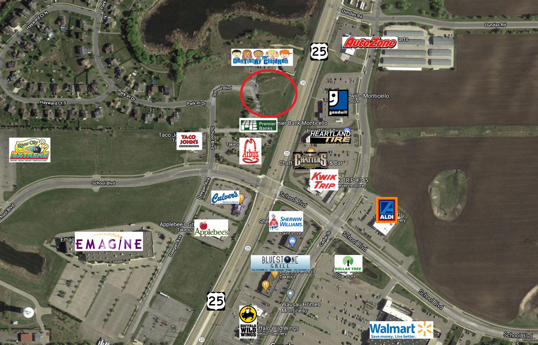 Monticello – Deegan Avenue 1.16 Acre Commercial Land