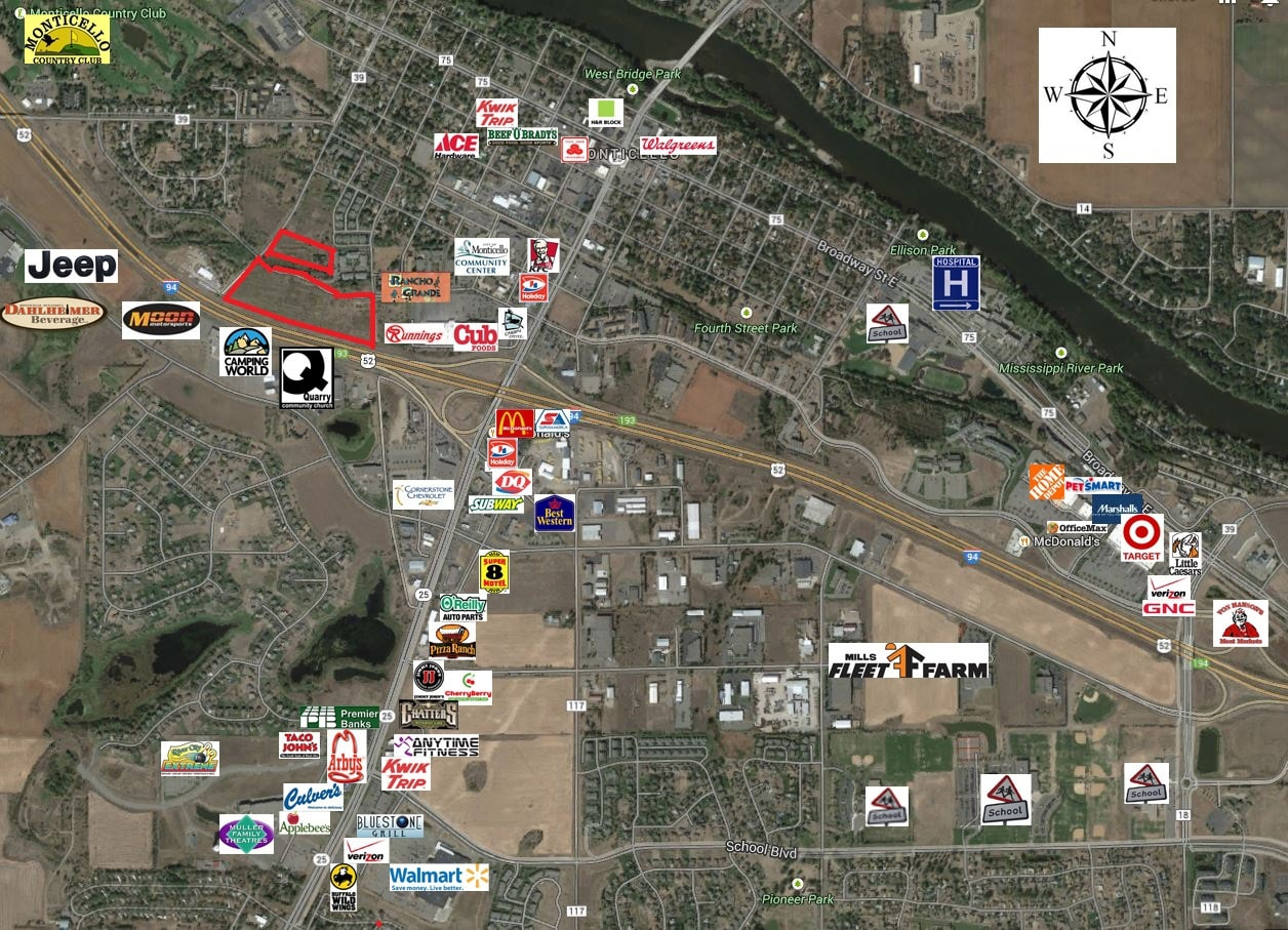 Monticello – 7th St & Interstate 94  20.16 Acres